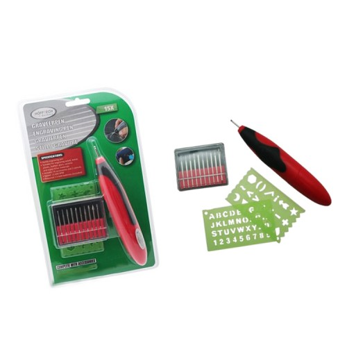 Mini engraver with accessories (on batteries)