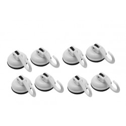 4x2pcs rubber suction cups with hook (35mm, 2kg)