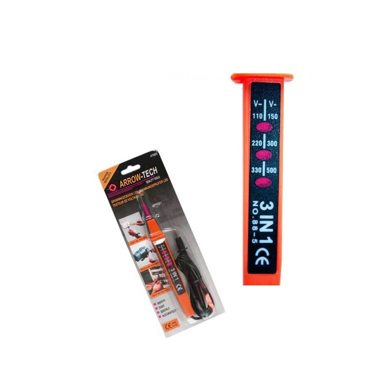 Voltage detector LED 3-in-1