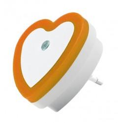 Nachtlampje met lichtsensor 220v (hart, oranje)