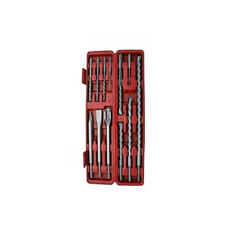SDS-PLUS Bohrer- und Meißelsatz, 12-teilig, im Koffer