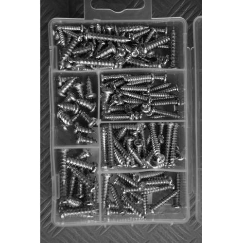 175 pieces sheet metal screws