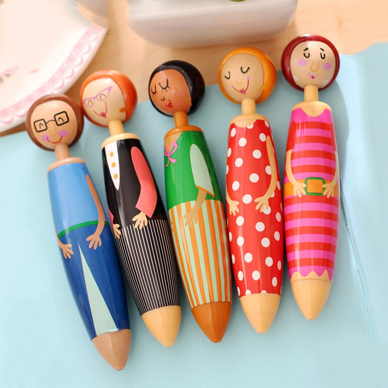 Set of funny pens (5 pieces)