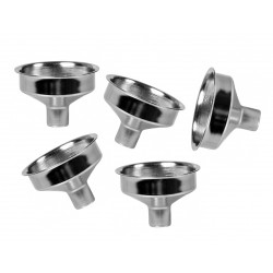 Mini stainless steel funnels (5 pieces)