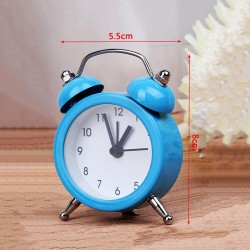 Funny little alarm clock, blue (on battery, 8x2x6cm)