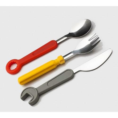 Gereedschap bestekset voor kinderen (vork, mes, lepel)