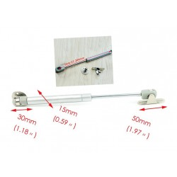 Gasfeder (Gasfeder) 80N/8kg, 250mm, Silber