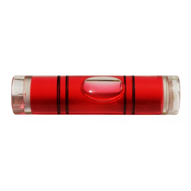 Vial for spirit level (red)