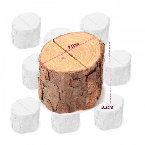 Set of stump photo holders, card holders (6 pieces)