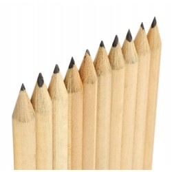 Mini potlood 6cm (type 1), zwart