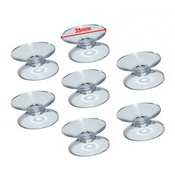 Set rubber zuignappen dubbel (35mm, 60 stuks)