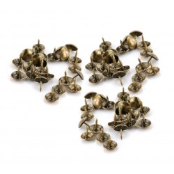 Push pins classic, bronze, 10x10mm, type 2 (100 pieces)