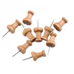Set wooden push pins (50 pcs)