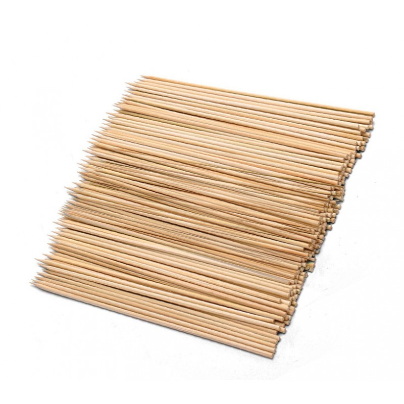 Gepunte stokjes (100 stuks, 3.6x240mm, berkenhout)