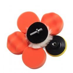 Set sponzen (7dlg) voor auto (boen/poets), m10 adapter