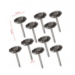 Mini steel wire brushes (3.175mm schaft, 30 pieces)