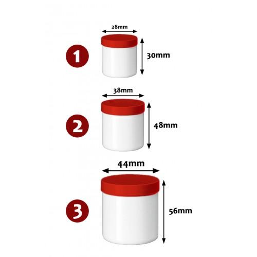 Kunststoff Salbenglas mit Schraubverschluss, Größe 2