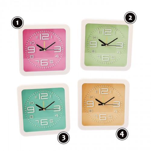 Moderne Uhr mit Wecker in fröhlicher Farbe: hellgrün, Nr. 2