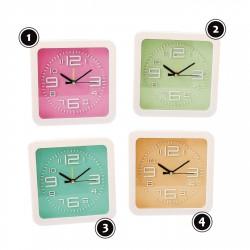 Moderne klok, in vrolijke kleur: oranje, nr 4
