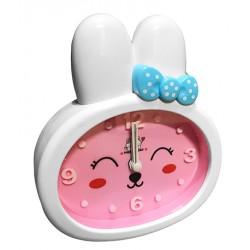 Grappige kinderklok, konijn (wekker), roze/wit, nr 2