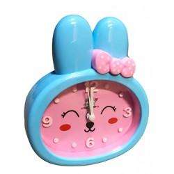 Grappige kinderklok, konijn (wekker), roze/blauw, nr 1