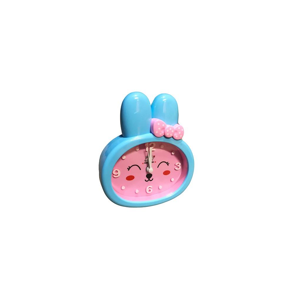 lustige kinderuhr hase wecker rosa blau typ 1 wood and tools. Black Bedroom Furniture Sets. Home Design Ideas