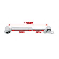Kleine gasdrukveer (gasveer) 100N/10kg, 172mm, zilver