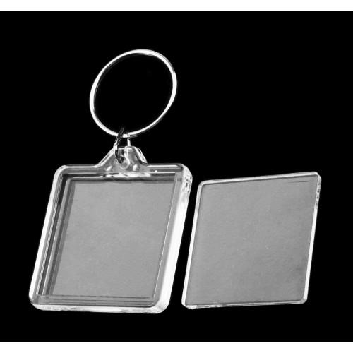 Set van 10 lege fotoframe sleutelhangers om zelf te vullen