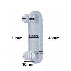 Gummi-Türdämpfers, 10 stuck, Türstoppers double 7mm (Typ 5)