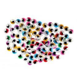 Wiggle eyes with eyelashes, decoration items, 840 pcs