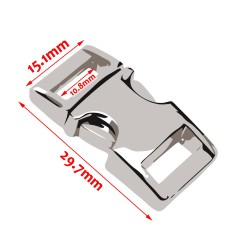 Mini metalen gesp, nr 2: 30x15mm, goud