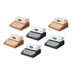 6 pcs typewriter photo holders, card holders (6 pieces)