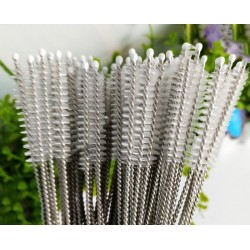 Long set of stainless steel brushes for cleaning (40 pcs)