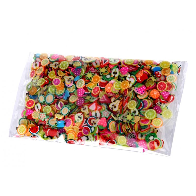 Mini colored deco slices in a bag (1000 pieces)