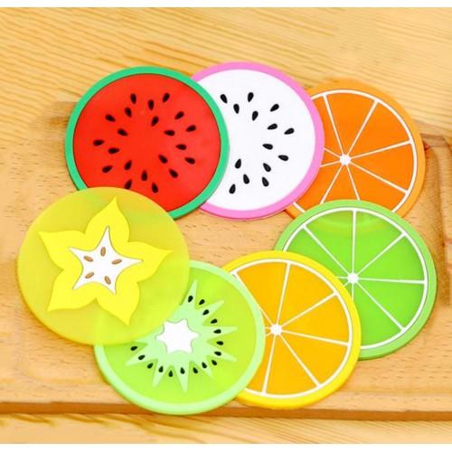 Kleurige onderzetters fruit (7 stuks)