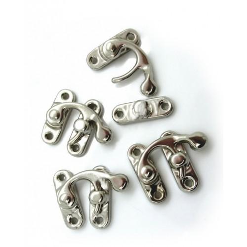 Mini zilverkleurige kistsluiting, kistslot