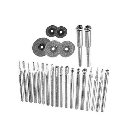 Set of grinding wheels diamond, 25 pieces, 3.2 mm