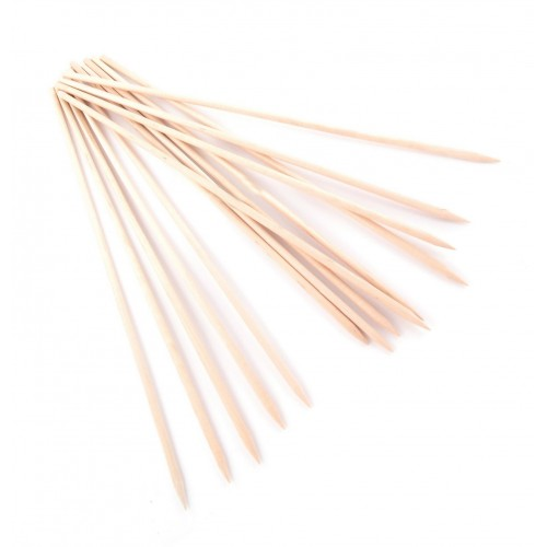 50 wooden skewers, 3.6 mm x 30 cm