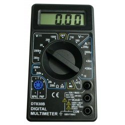 LCD digital multimeter (black)