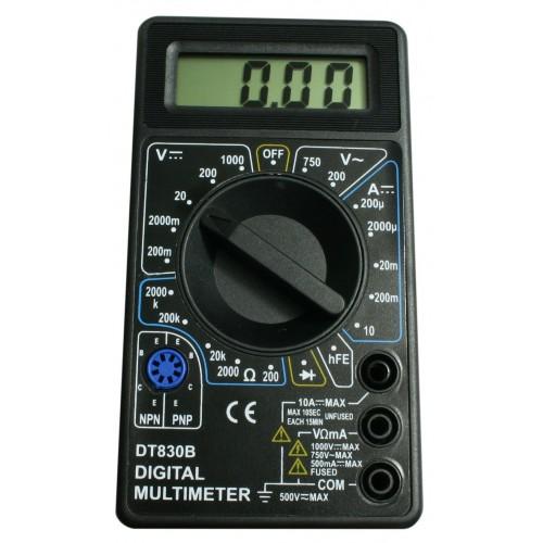 LCD digital multimeter (black)