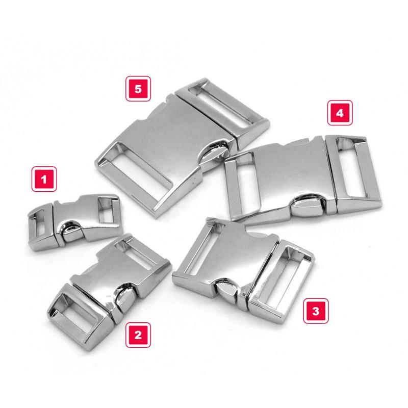 Sturdy metal buckle, silver, no. 1