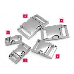 Sturdy metal buckle, silver, no. 2