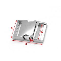 Sturdy metal buckle, silver, no. 4