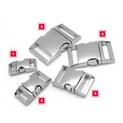 Sturdy metal buckle, silver, no. 5