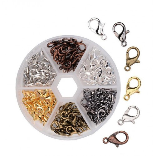 Set of 120 hooks for jewelry and clothing, in box