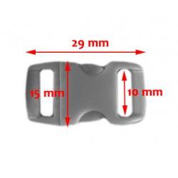 20 mini plastic gespen, sluitingen, 10mm, nr 19: black