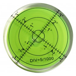 5 x round bubble level tool 66x11 mm green