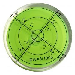 5 x runde Wasserwaage 66x11 mm grün