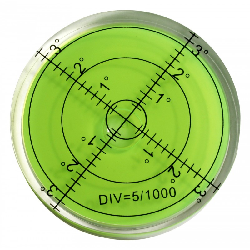 Round bubble level tool 60x12 mm