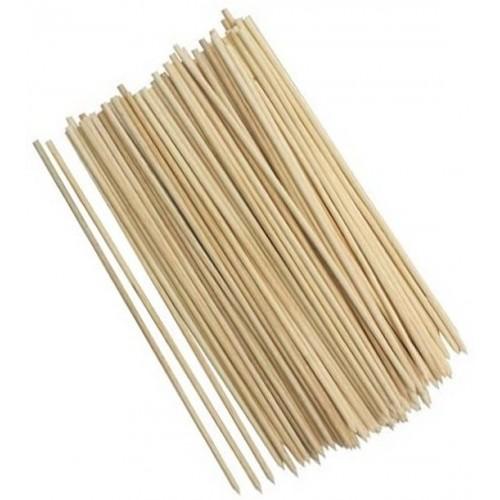 100 wooden skewers, 25cm